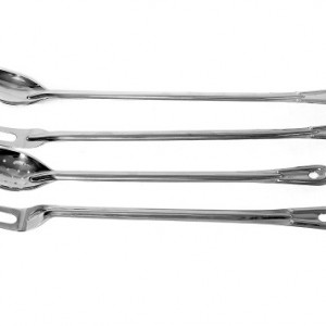stainless steel extra long handle serving spoon