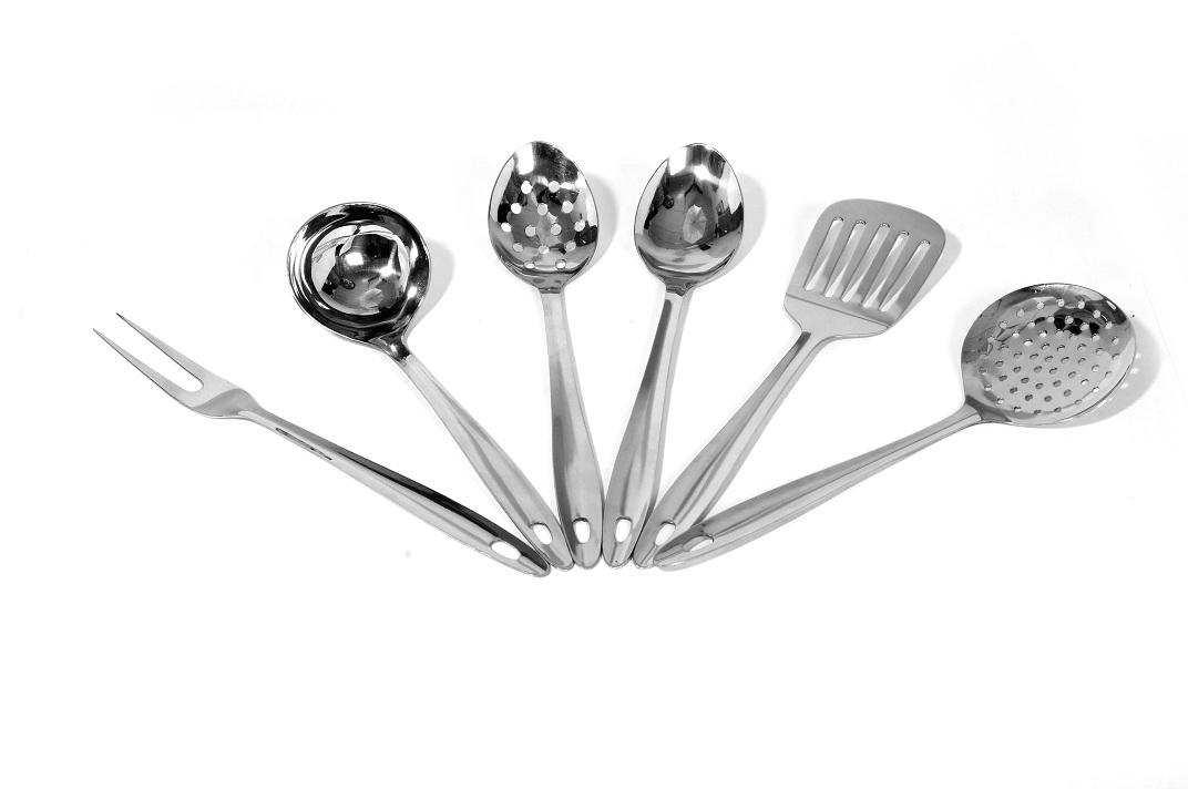 Pearl kitchen tool set miinox wares for Kitchen set stainless steel