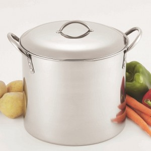 stainless steel stock pot with dome lid