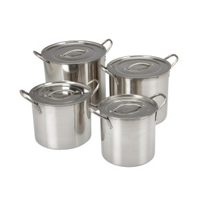 stainless steel 4 pcs stockpot set with flat lid
