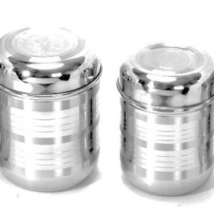 Stainless Steel Tool Touch Finish Canisters