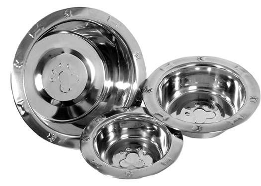 Wide Rim Embossed Pet Dishes