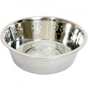 stainless steel embossed pet bowl