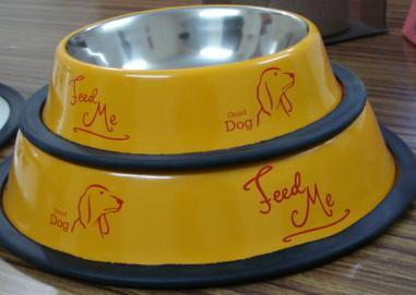 color non slip pet bowls