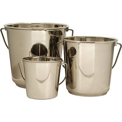 Stainless Steel Round Buckets
