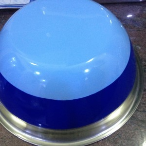 dark light blue mixing bowl